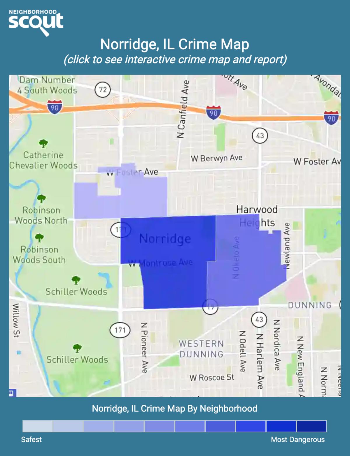 Norridge, Illinois crime map
