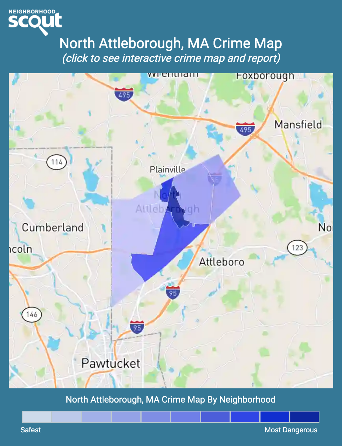 North Attleborough, Massachusetts crime map