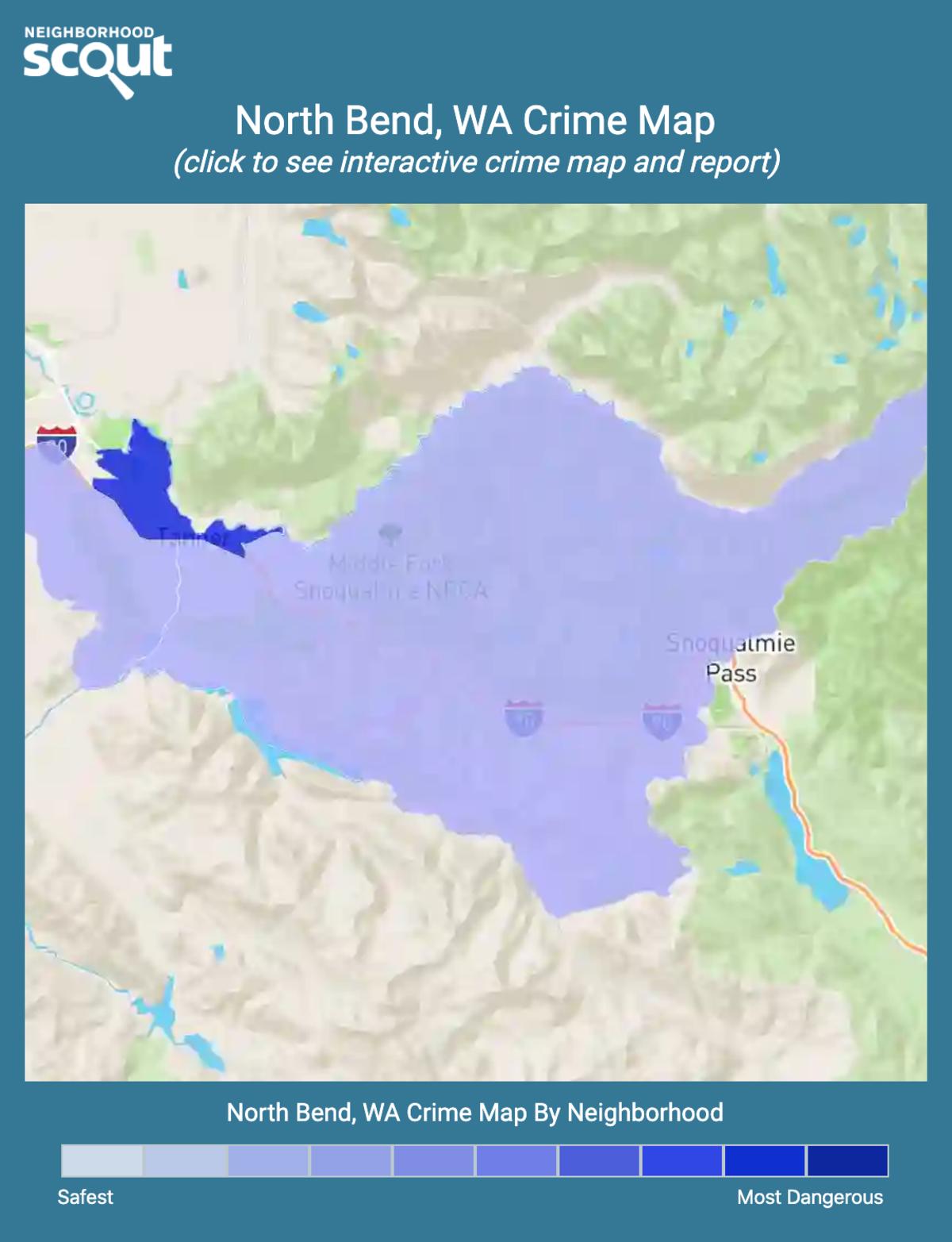 North Bend, Washington crime map