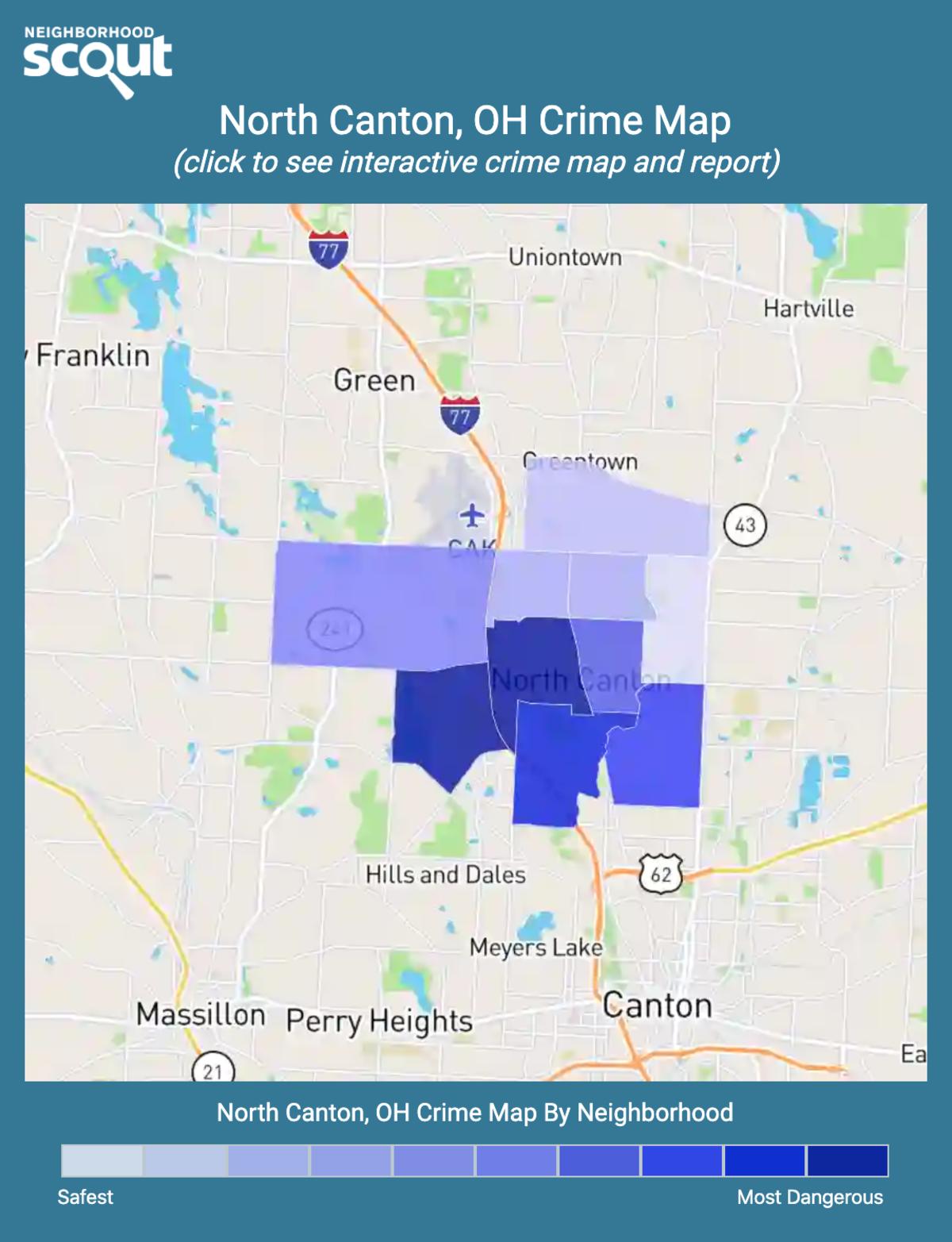 North Canton, Ohio crime map