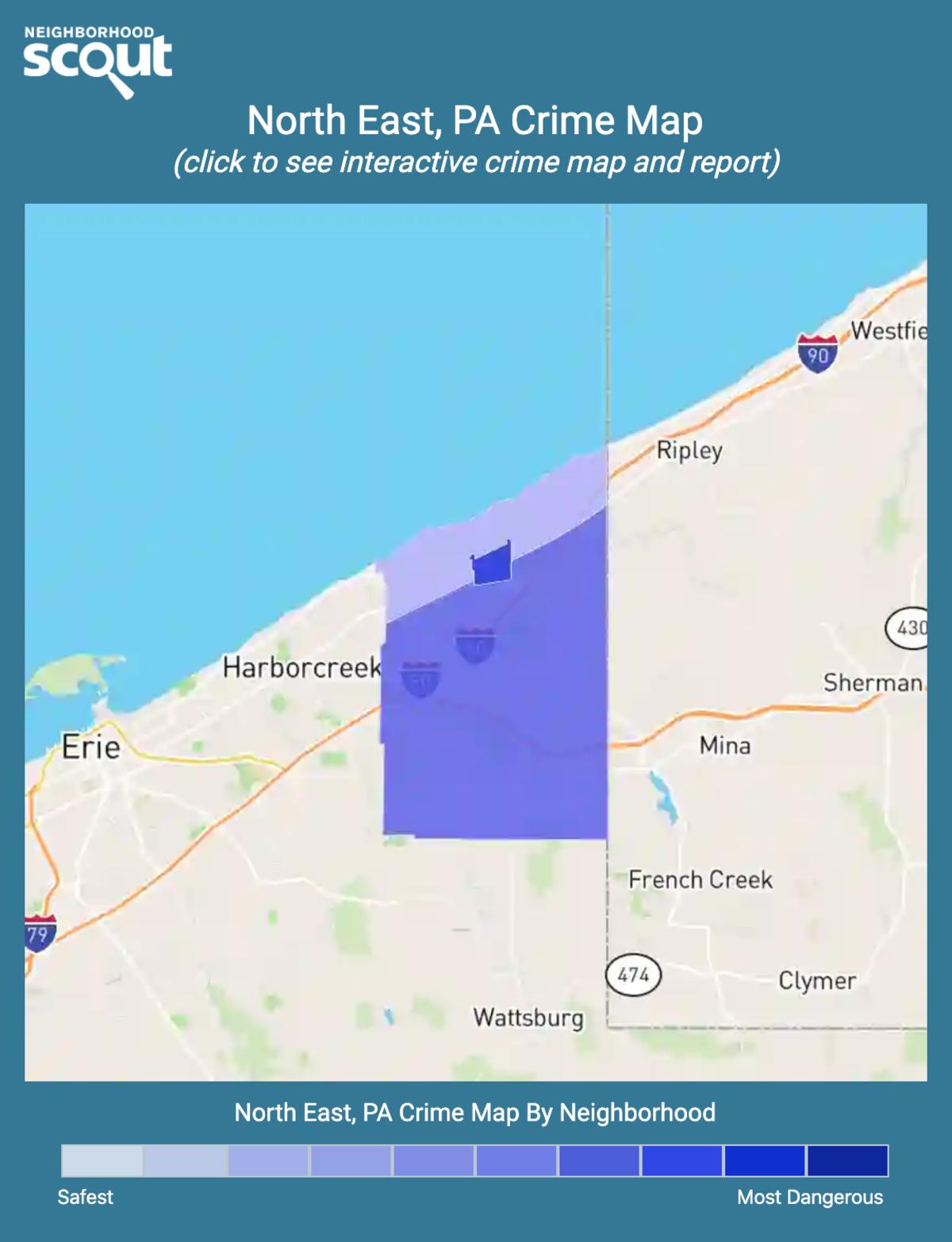 North East, Pennsylvania crime map