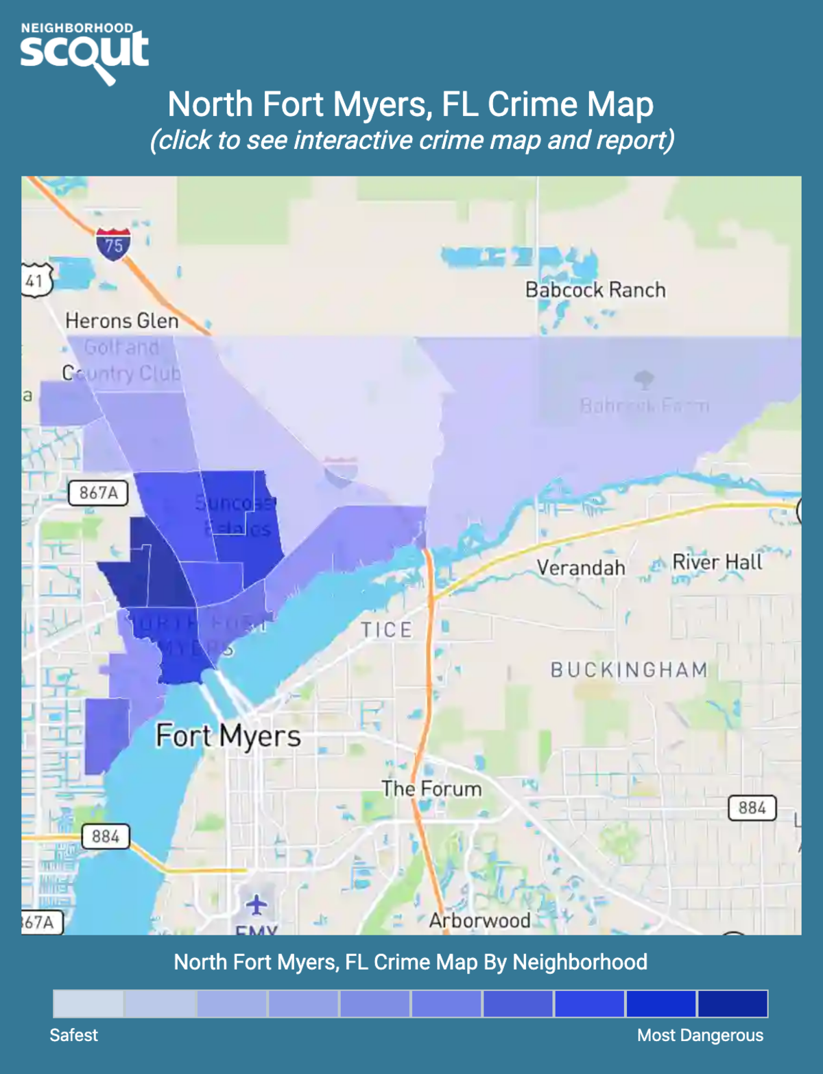 North Fort Myers, Florida crime map