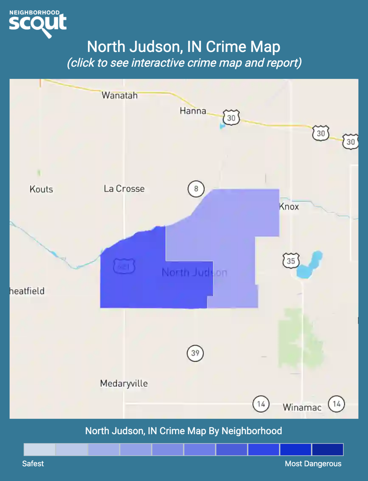 North Judson, Indiana crime map