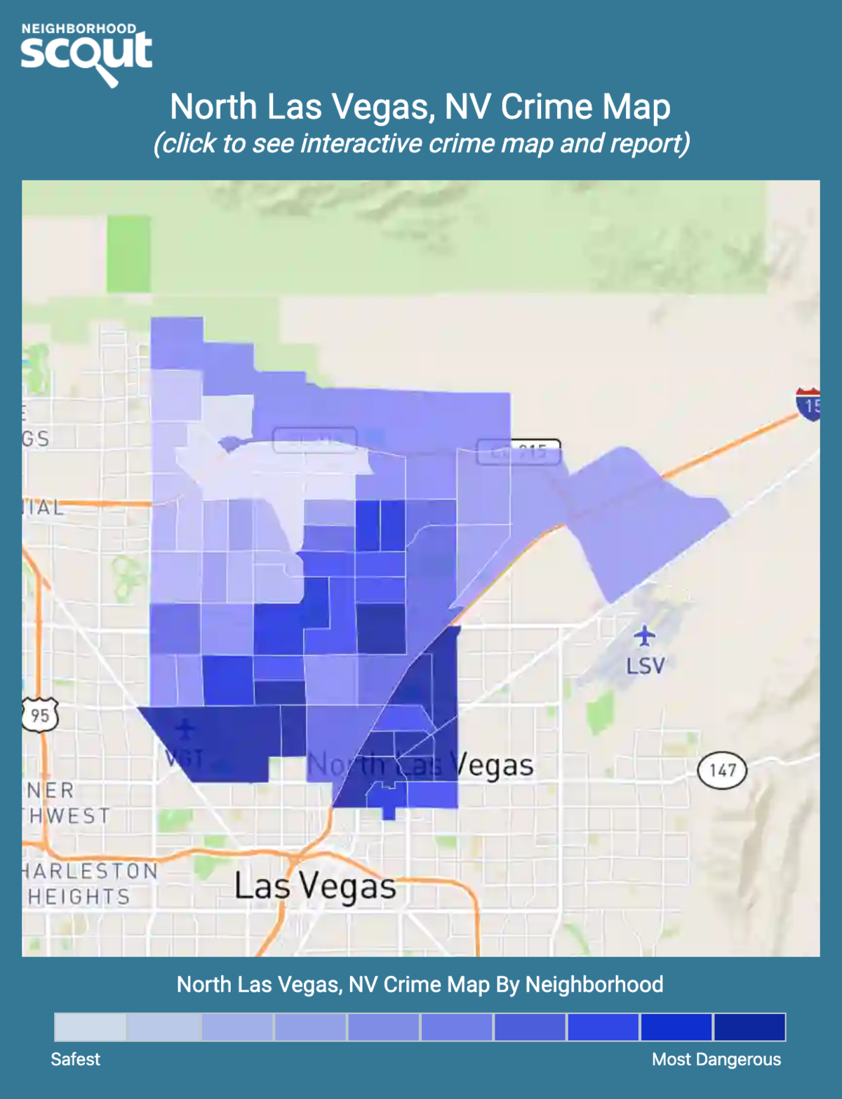 North Las Vegas, Nevada crime map