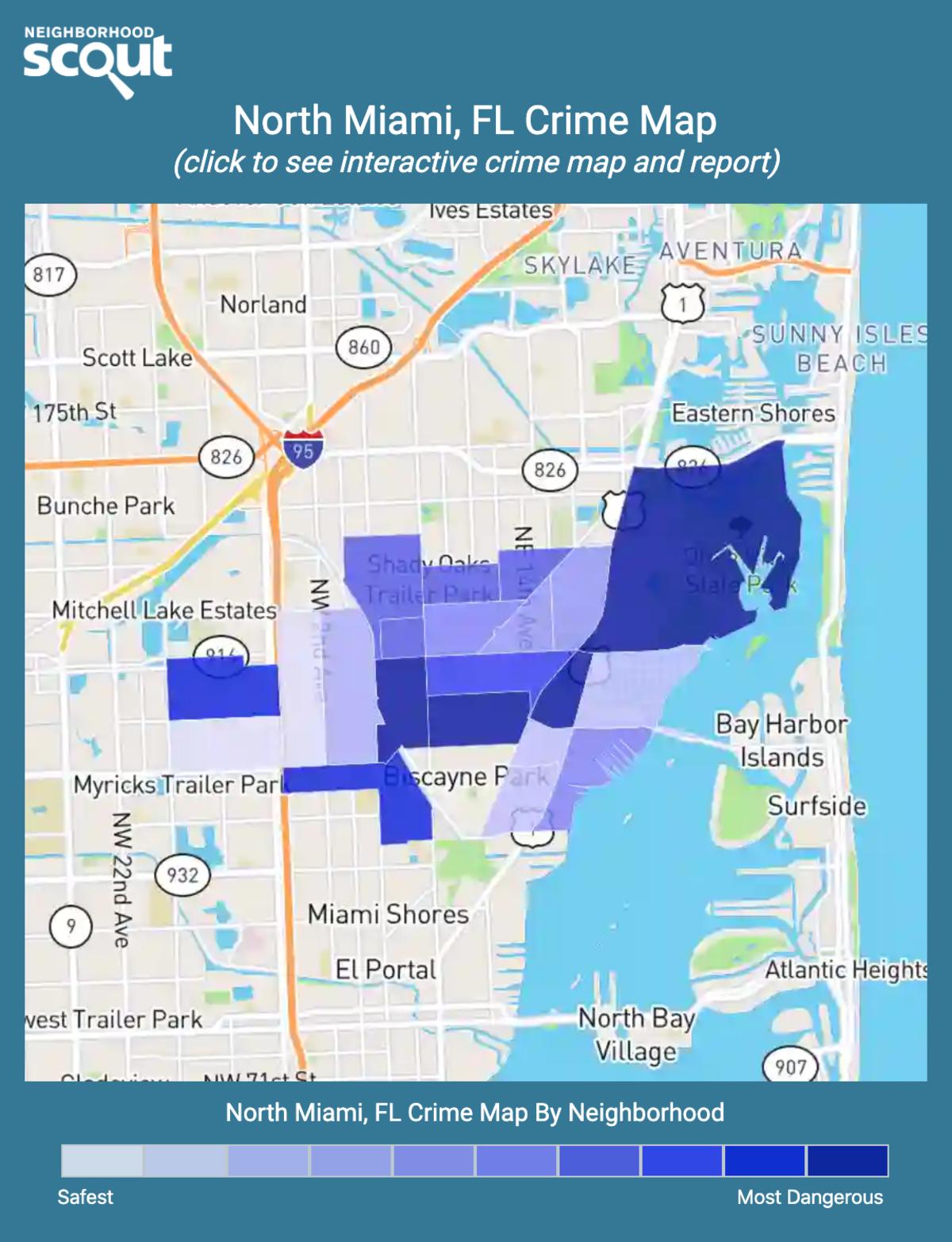 North Miami, Florida crime map