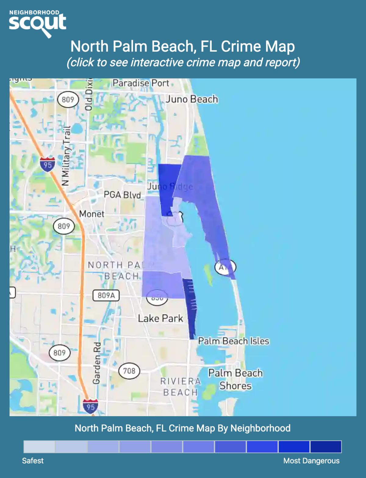 North Palm Beach, Florida crime map