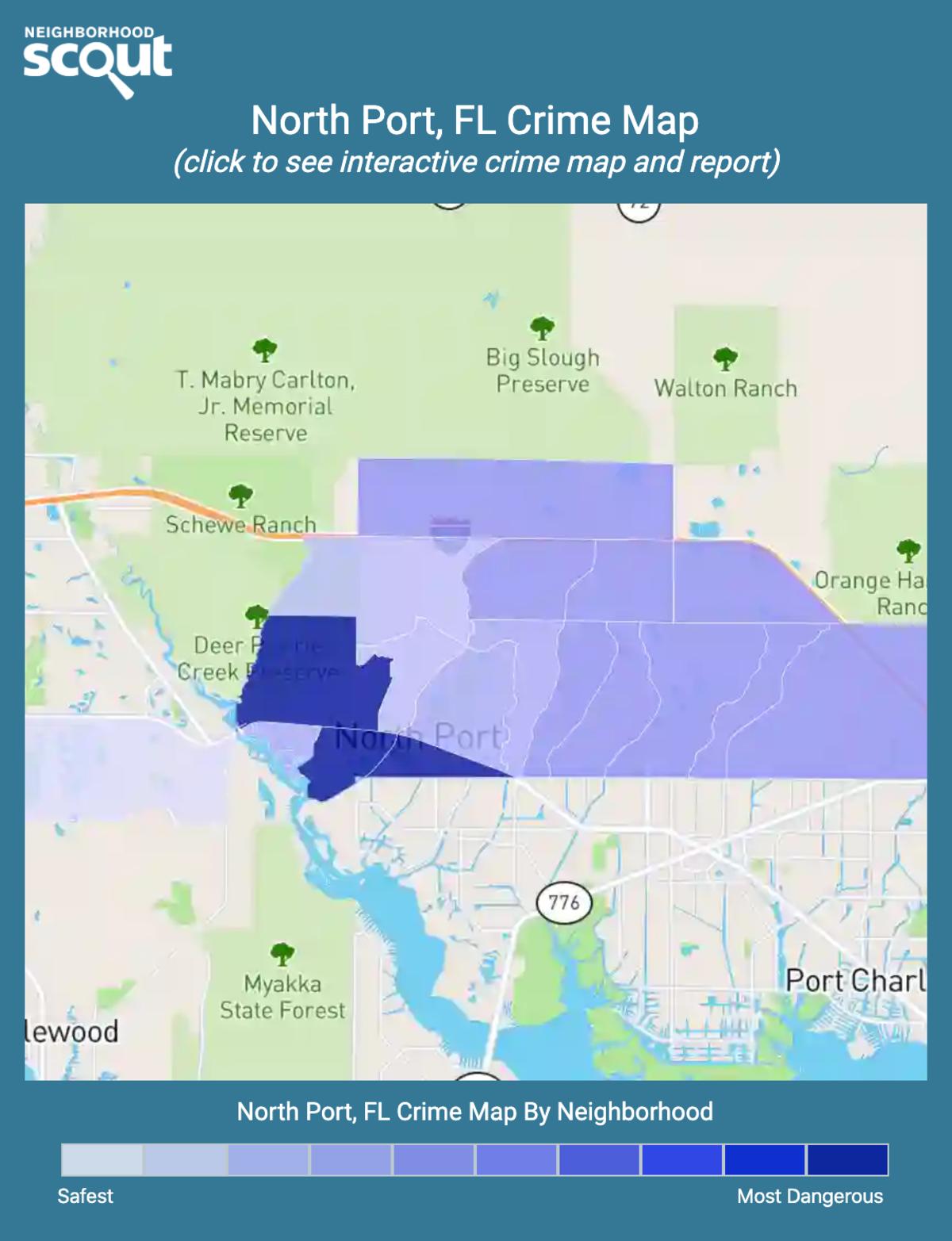 North Port, Florida crime map