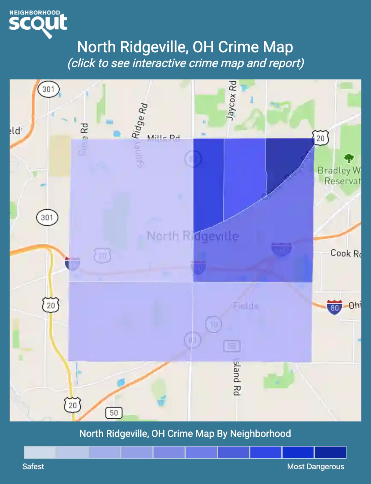 North Ridgeville, Ohio crime map