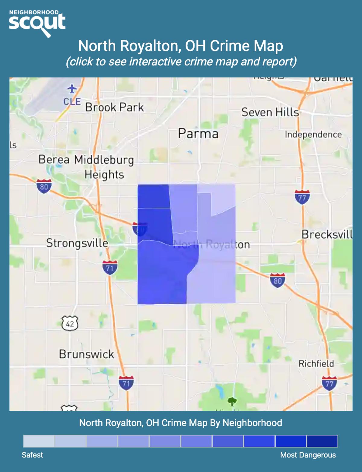 North Royalton, Ohio crime map
