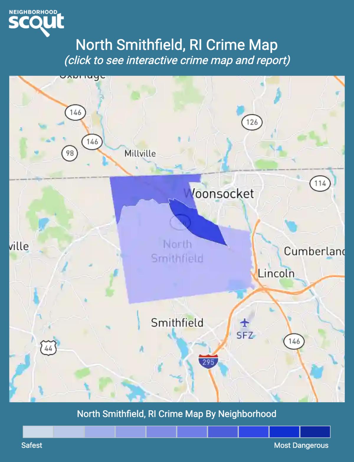 North Smithfield, Rhode Island crime map