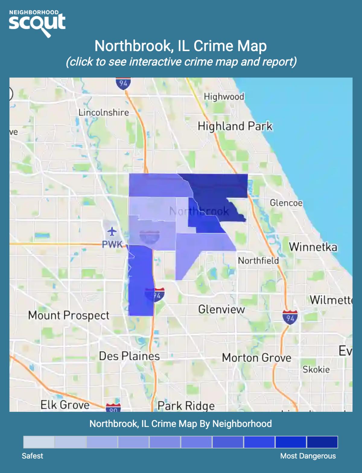 Northbrook, Illinois crime map