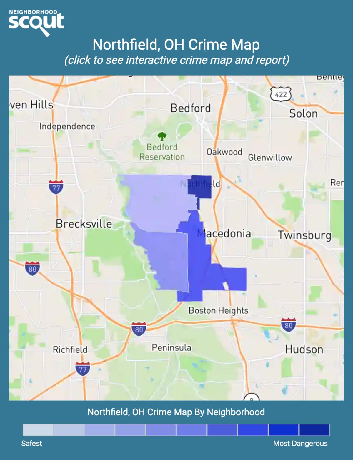 Northfield, Ohio crime map