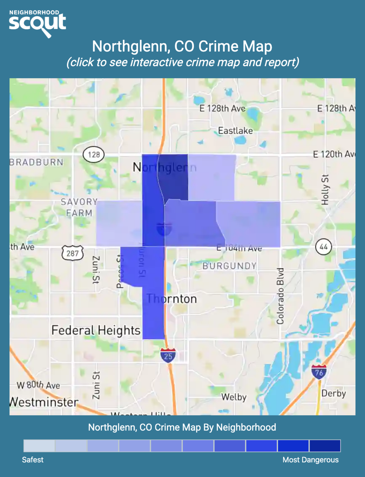 Northglenn, Colorado crime map