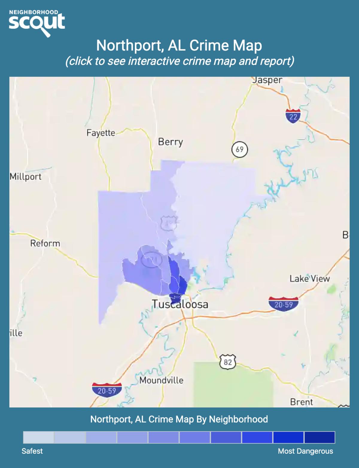 Northport, Alabama crime map