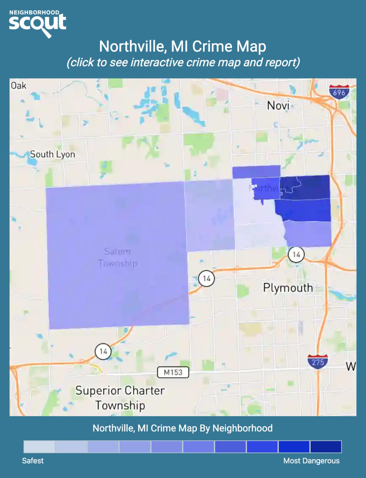 Northville, Michigan crime map