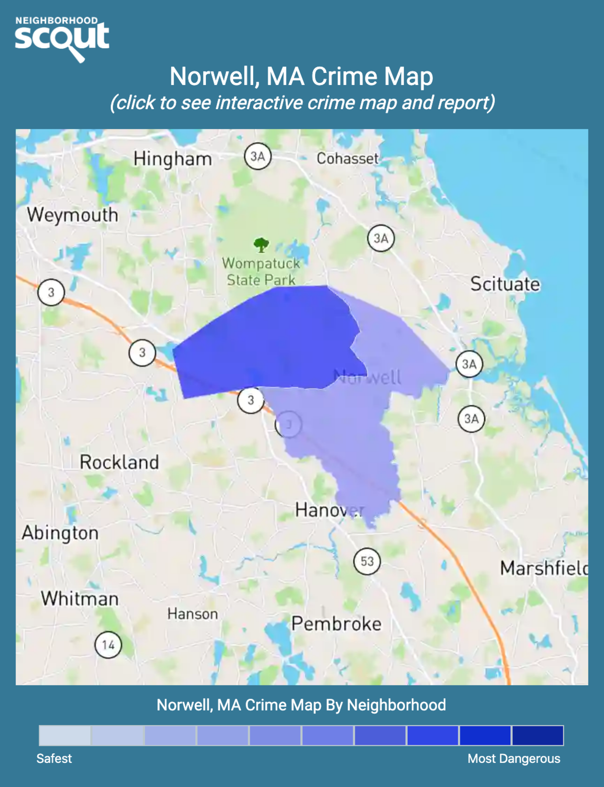 Norwell, Massachusetts crime map