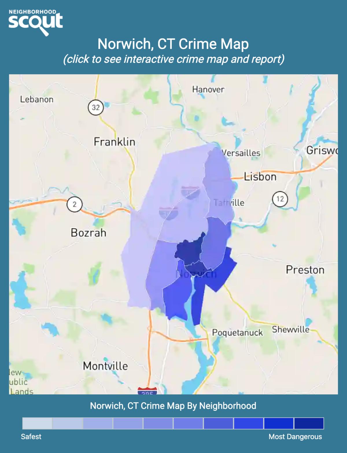 Norwich, Connecticut crime map
