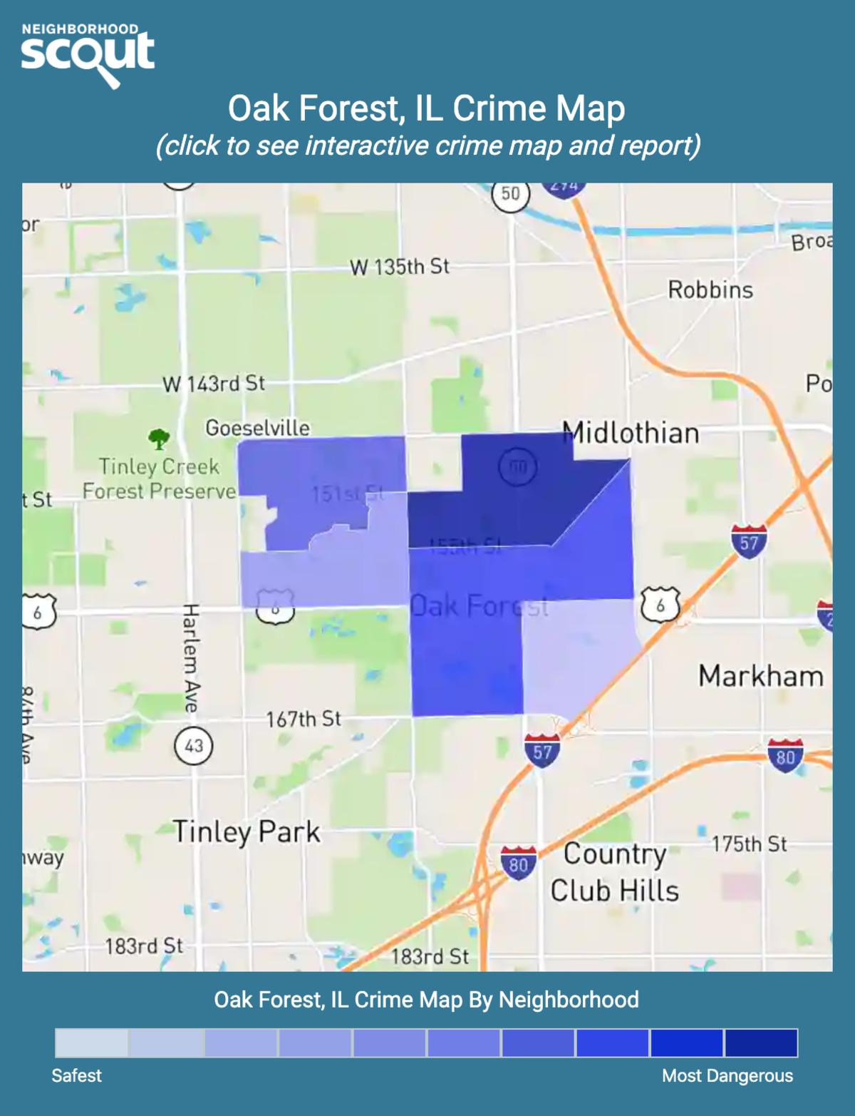 Oak Forest, Illinois crime map