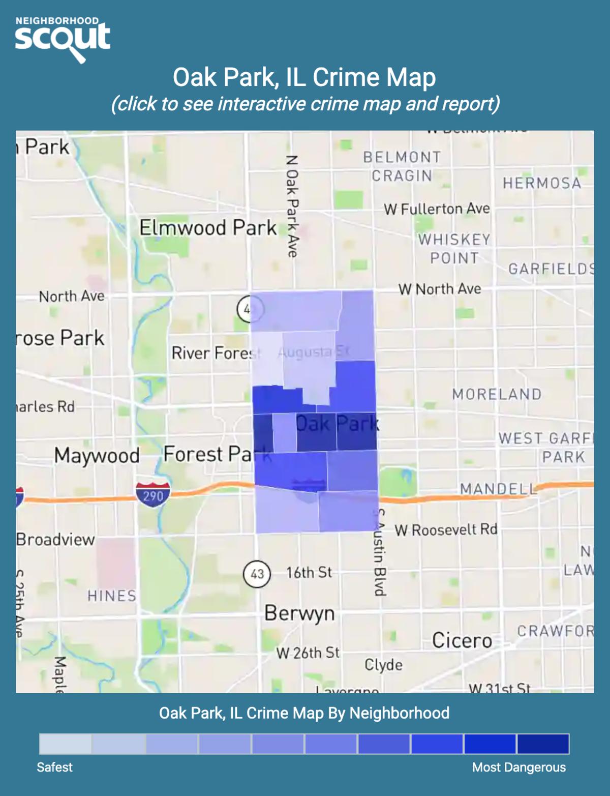 Oak Park, Illinois crime map