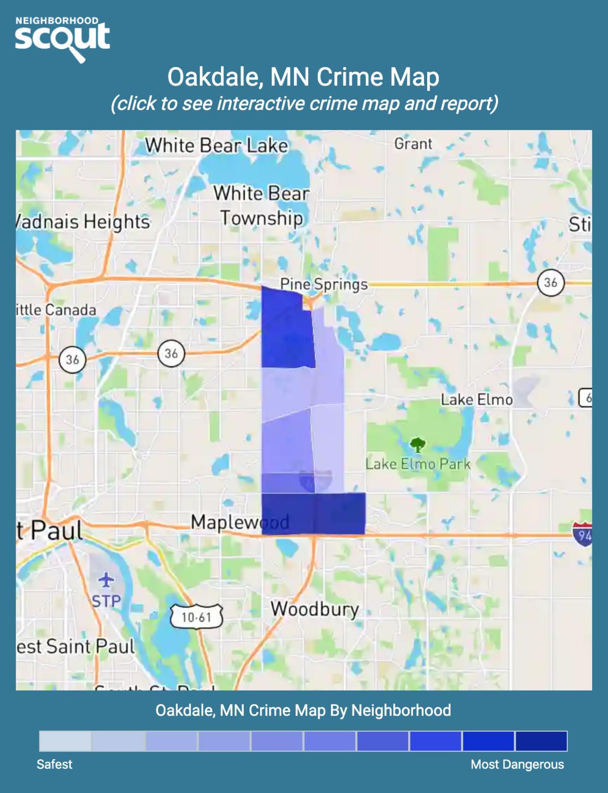 Oakdale, Minnesota crime map