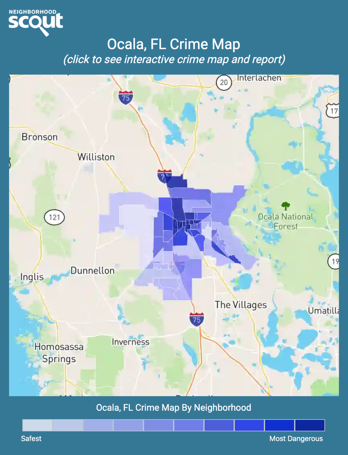 Ocala, Florida crime map