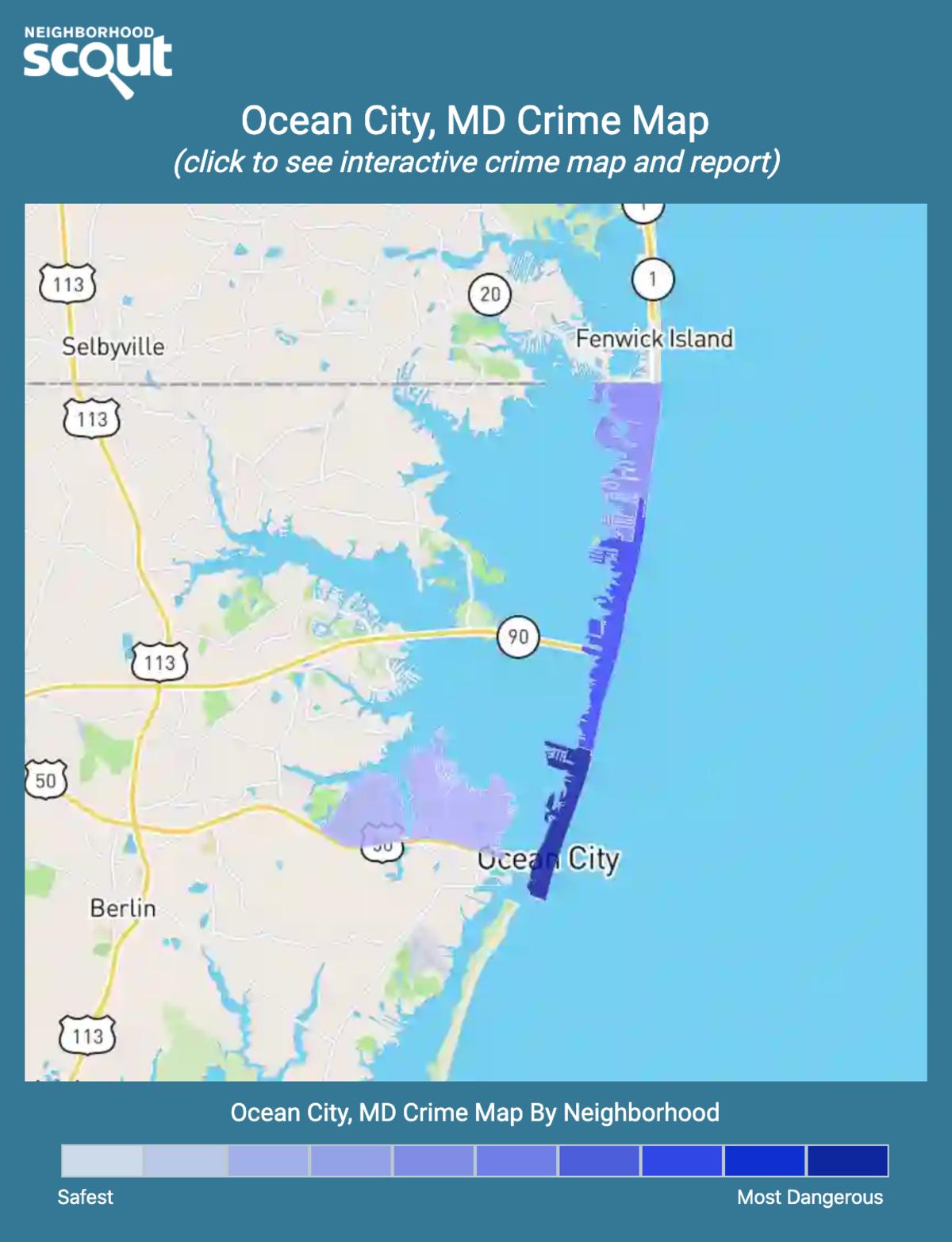 Ocean City, Maryland crime map