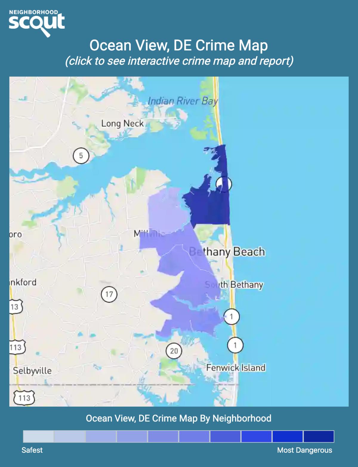 Ocean View, Delaware crime map