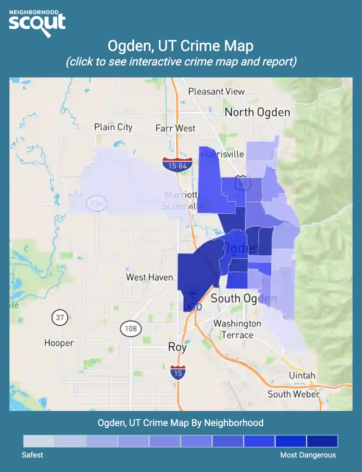 Ogden, Utah crime map