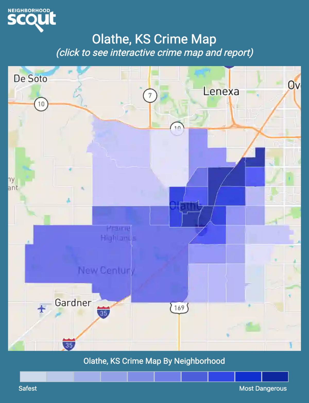 Olathe, Kansas crime map
