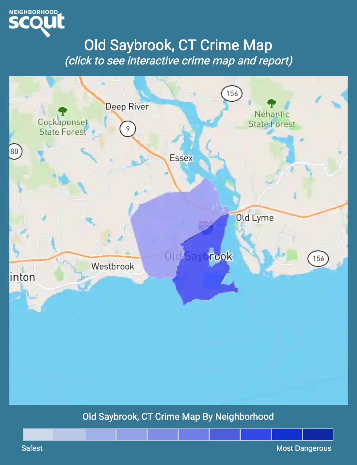 Old Saybrook, Connecticut crime map