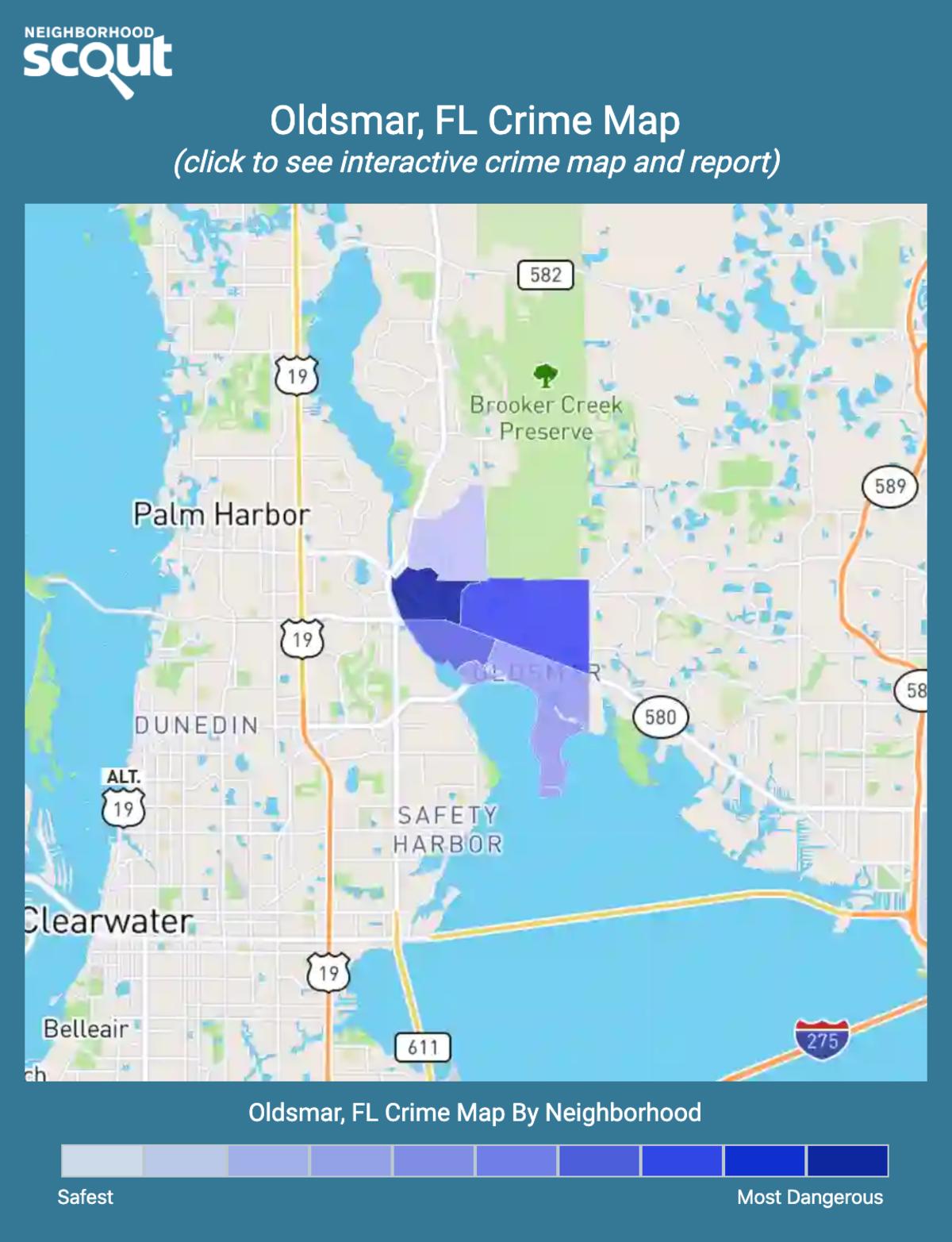 Oldsmar, Florida crime map