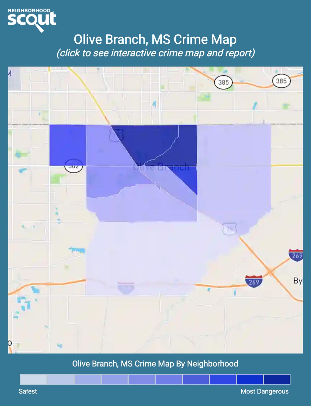 Olive Branch, Mississippi crime map