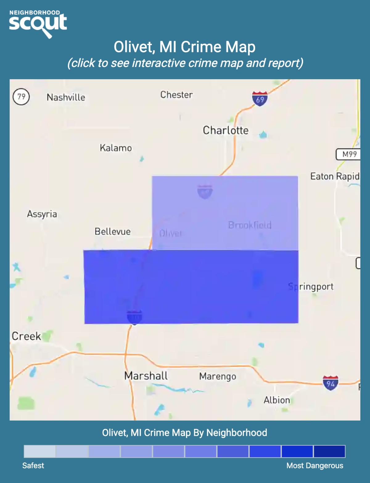Olivet, Michigan crime map