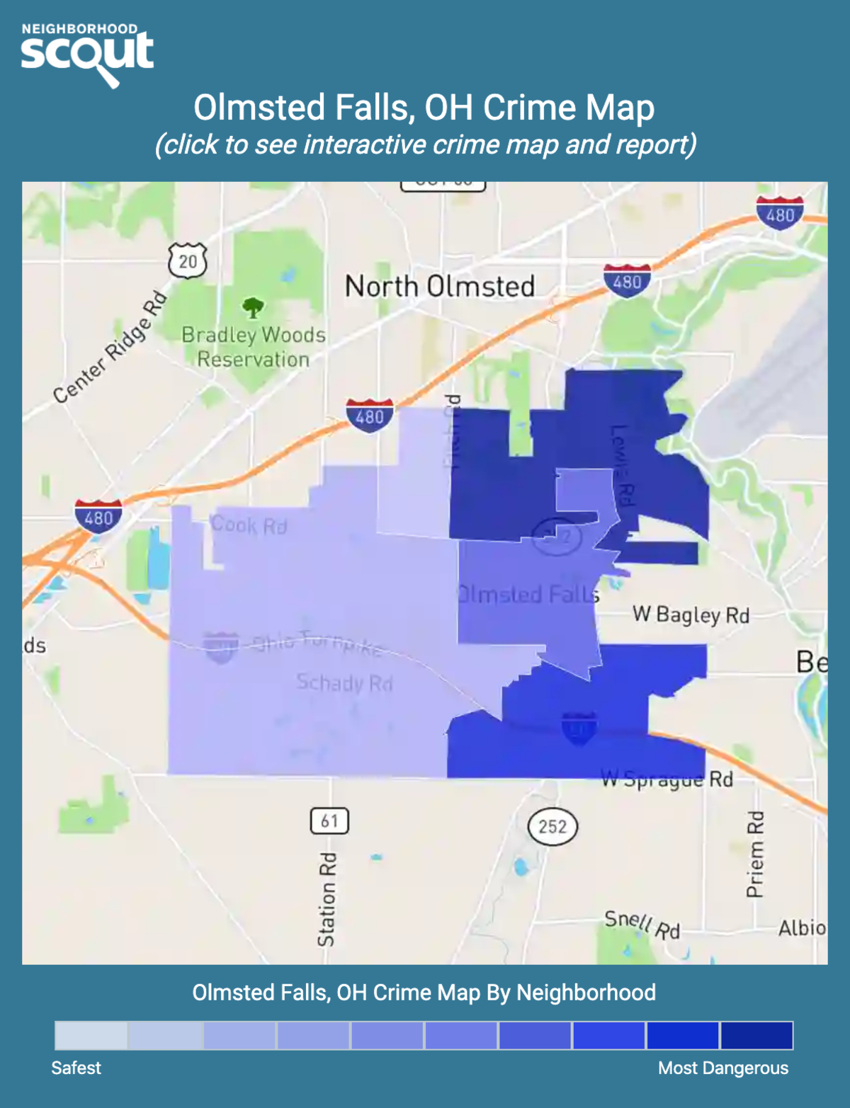 Olmsted Falls, Ohio crime map