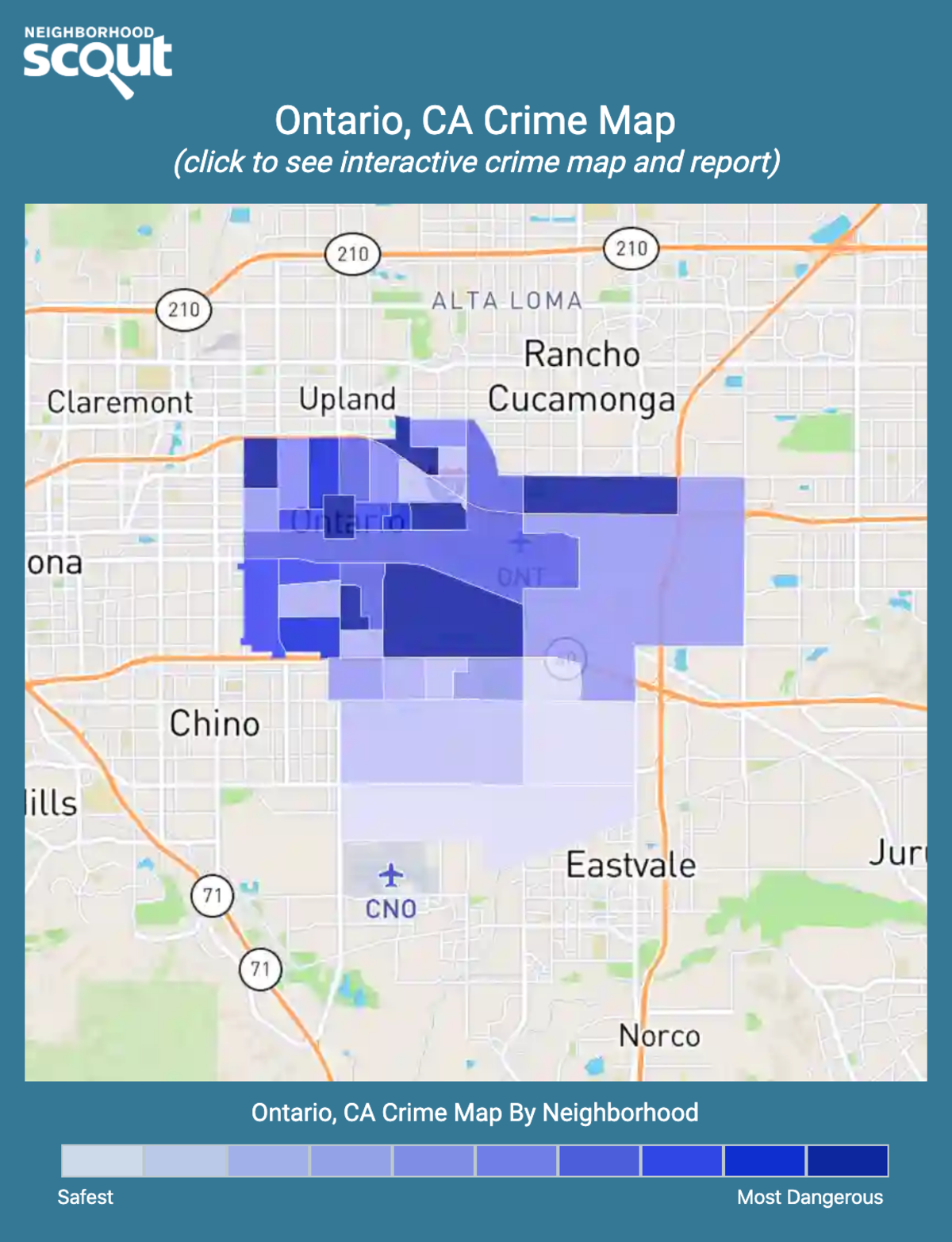 Ontario, California crime map