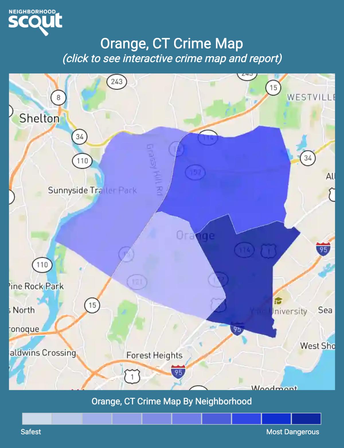 Orange, Connecticut crime map