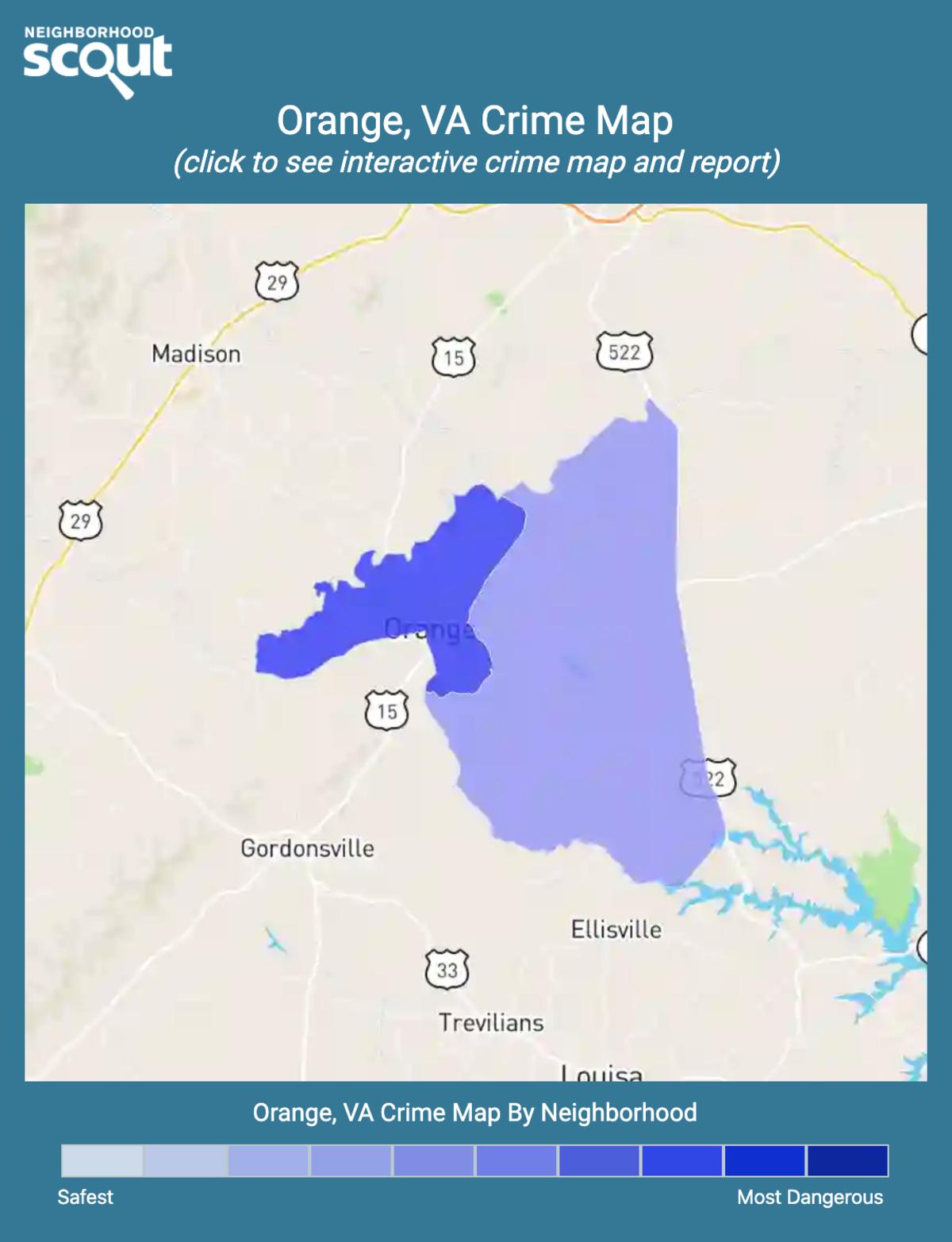 Orange, Virginia crime map