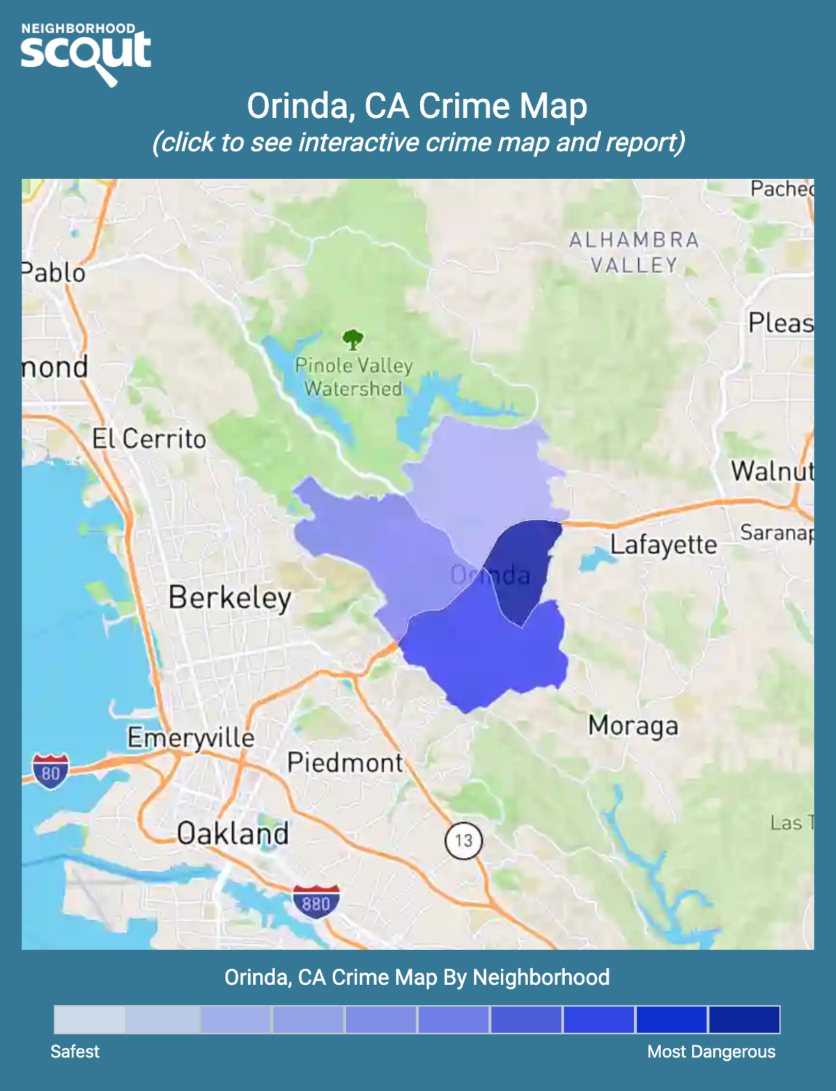 Orinda, California crime map