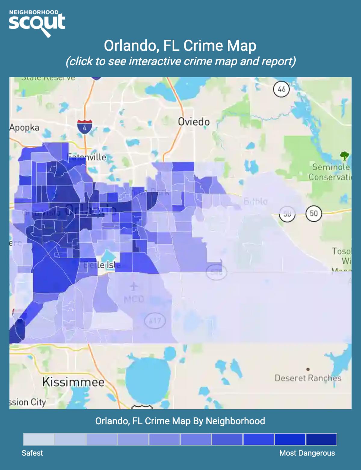 Orlando, Florida crime map