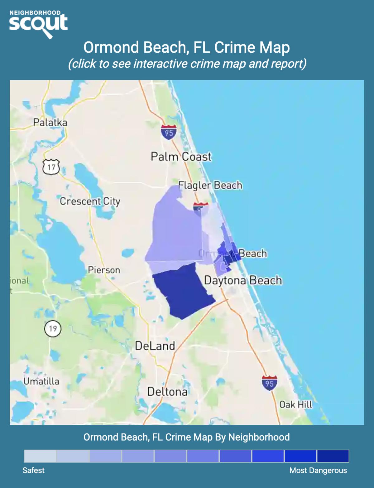 Ormond Beach, Florida crime map