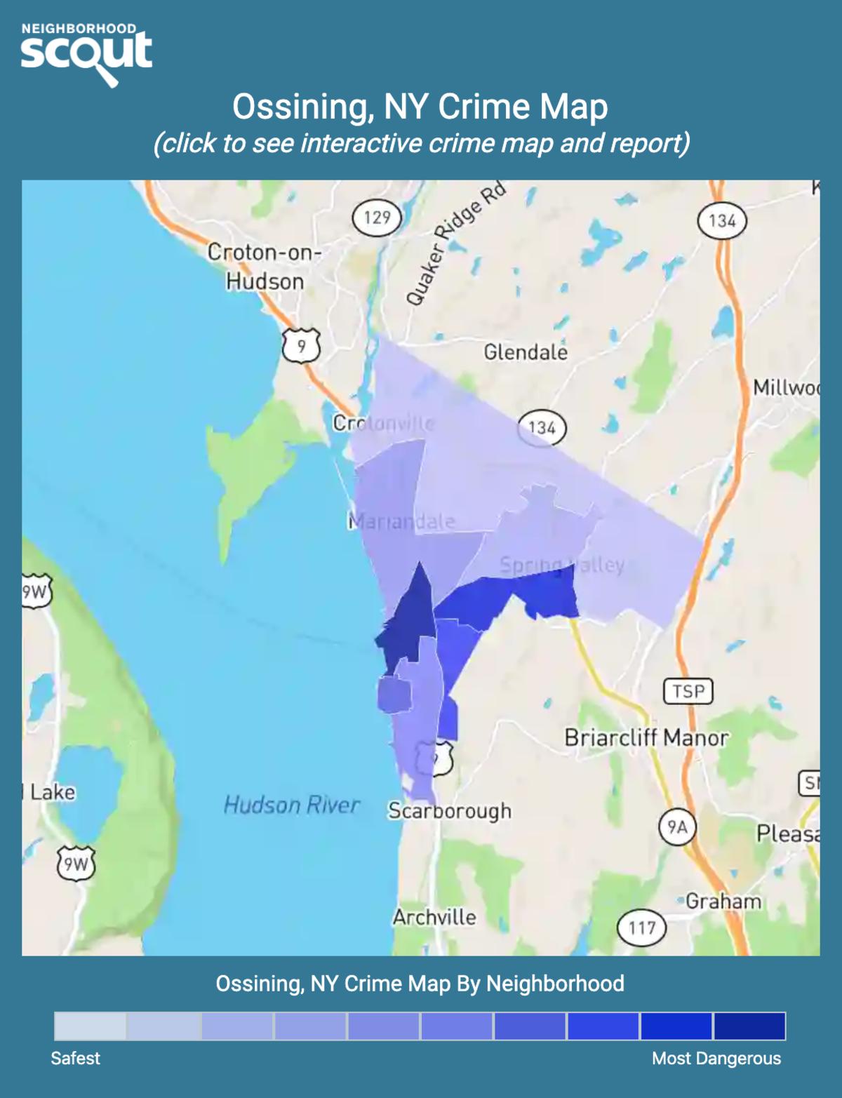 Ossining, New York crime map
