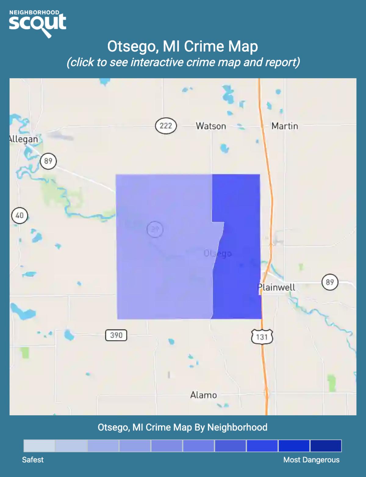Otsego, Michigan crime map
