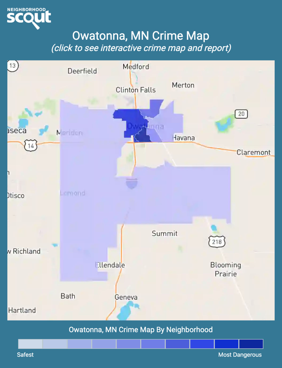 Owatonna, Minnesota crime map