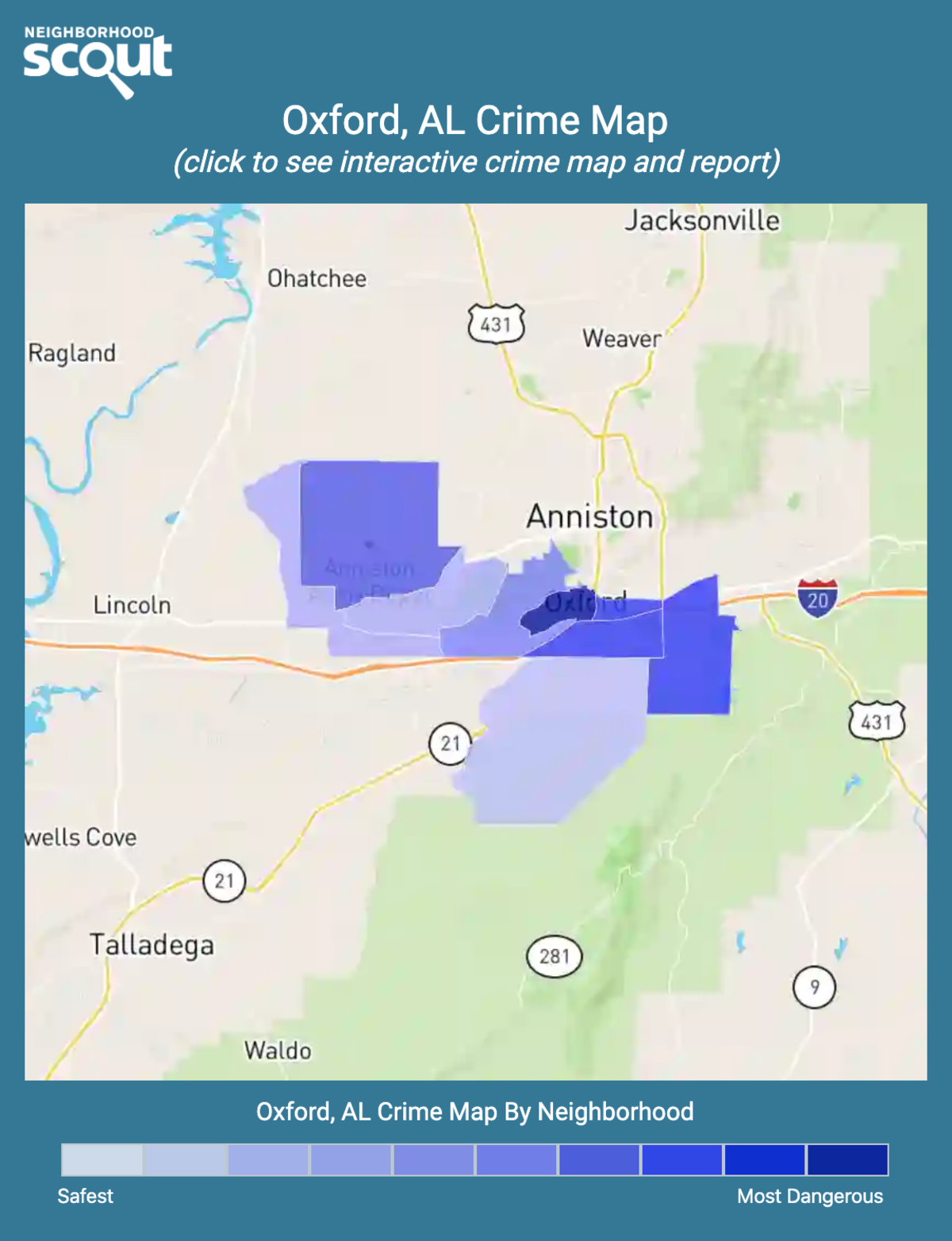 Oxford, Alabama crime map