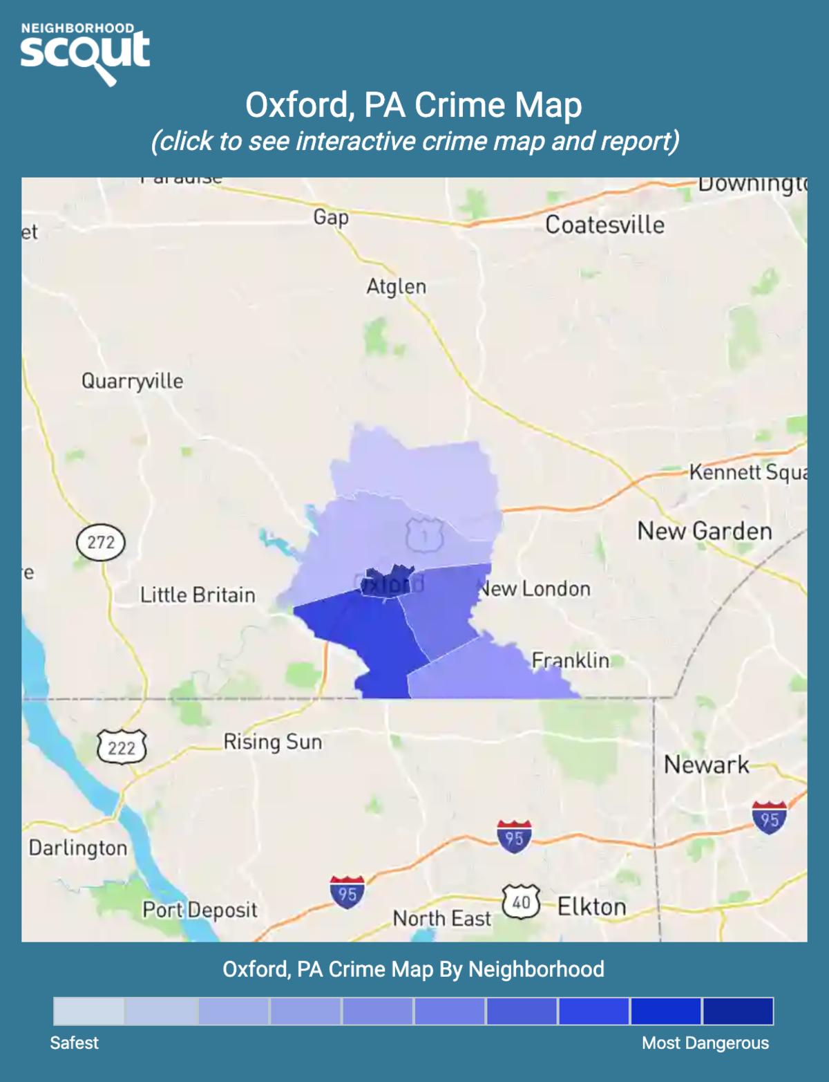Oxford, Pennsylvania crime map