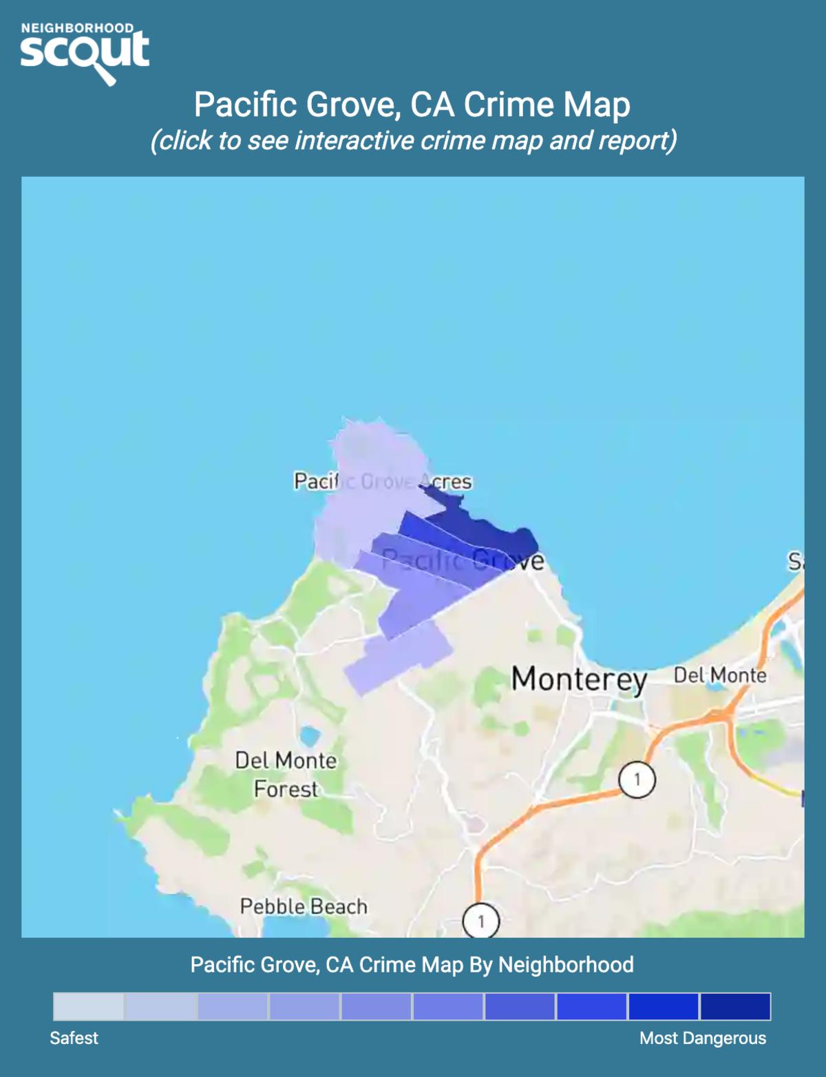 Pacific Grove, California crime map