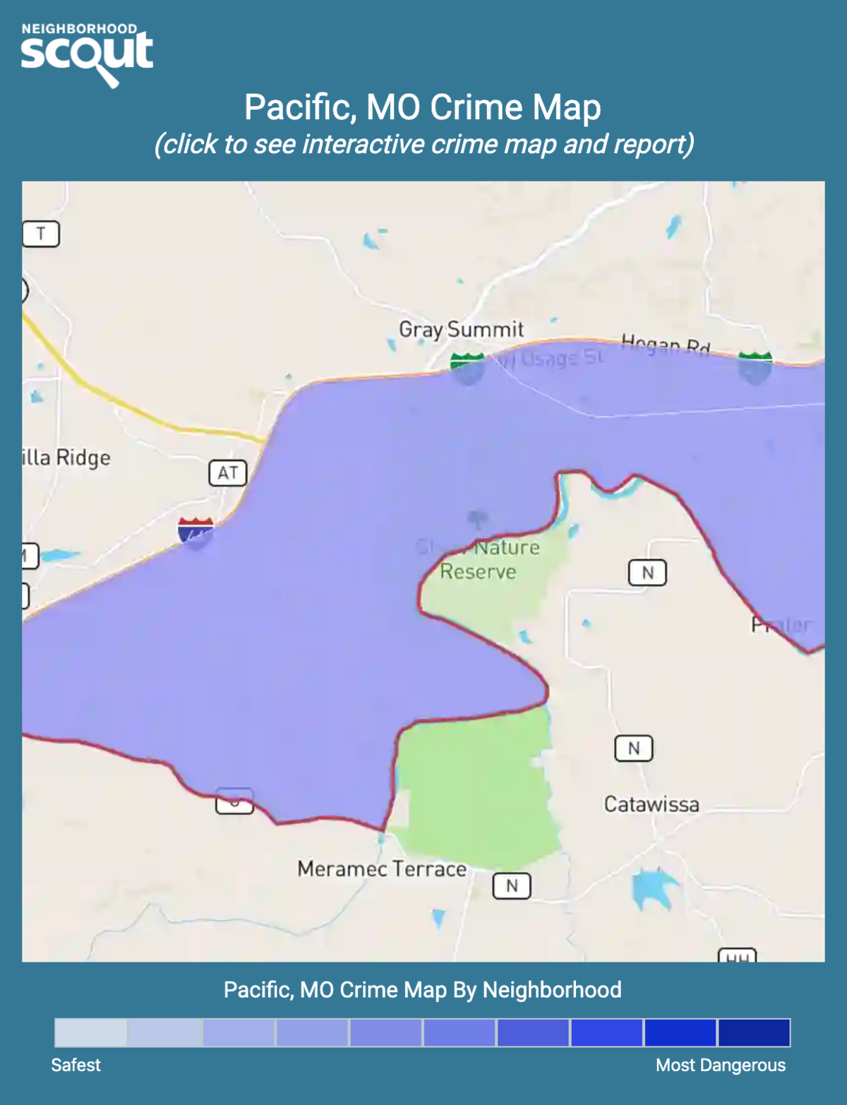 Pacific, Missouri crime map