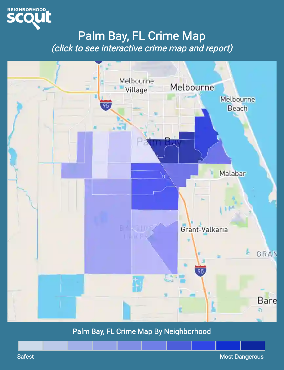 Palm Bay, Florida crime map