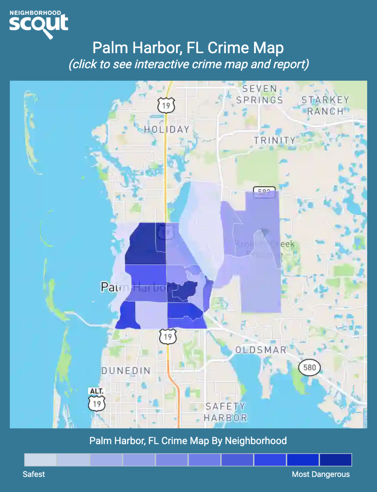 Palm Harbor, Florida crime map
