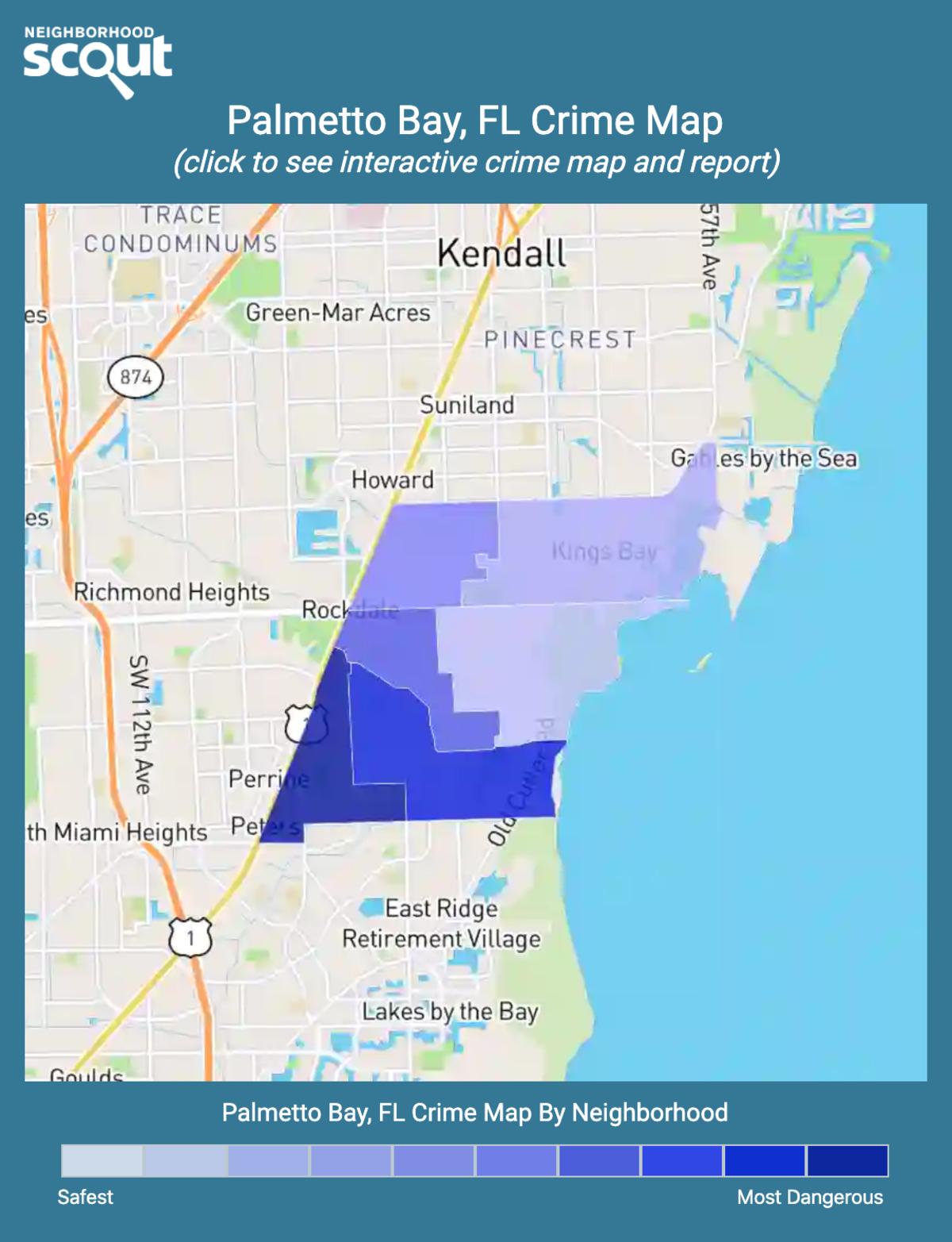 Palmetto Bay, Florida crime map